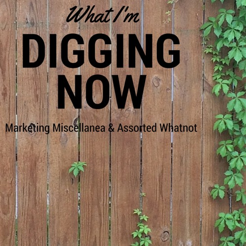 What I'm Digging Now: Marketing Miscellanea & Assorted Whatnot